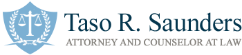Taso R. Saunders Attorney and Counselor at Law Header Logo
